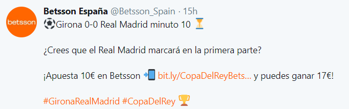 Copa Del Rey Betsson Twitter - 6 Benefits of Social Media Localization - Translation Royale