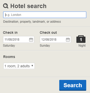 Hotels.com UK - 3 best examples of website localization - Translation Royale