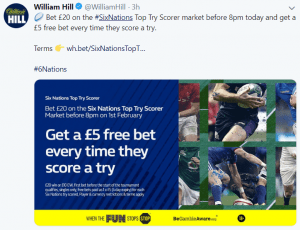 William Hill UK Twitter - 6 Benefits of Social Media Localization - Translation Royale