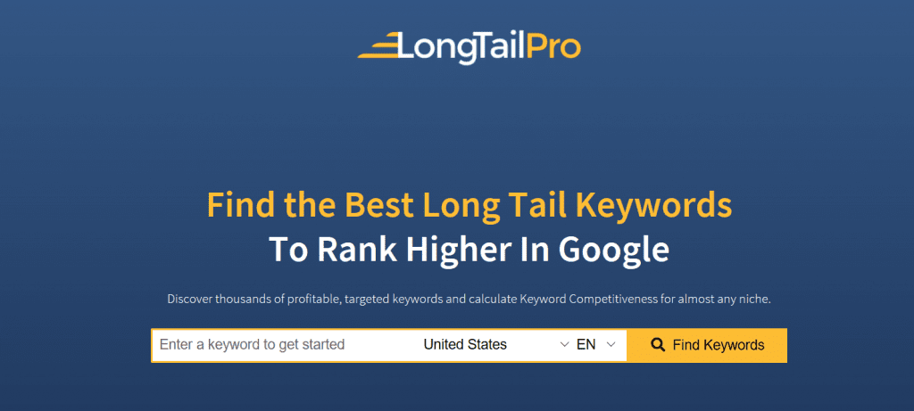 LongTailPro - 5 Most Popular Paid Keyword Research Tools - Translation Royale