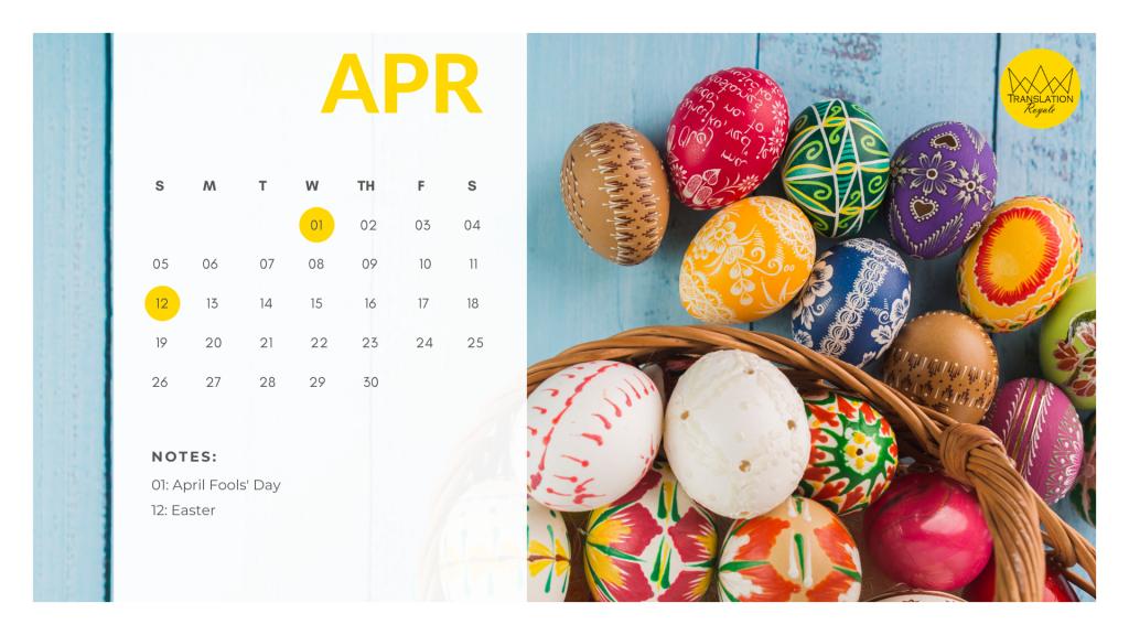 April - Marketing Calendar for the Latin American iGaming Market - Translation Royale
