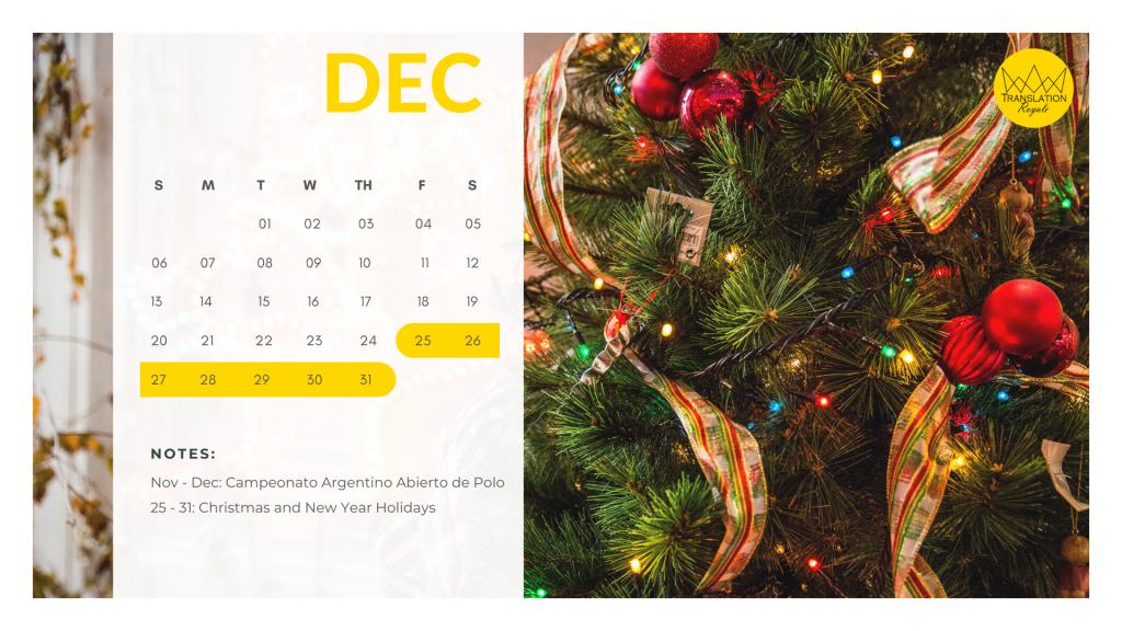 December - Marketing Calendar for the Latin American iGaming Market - Translation Royale
