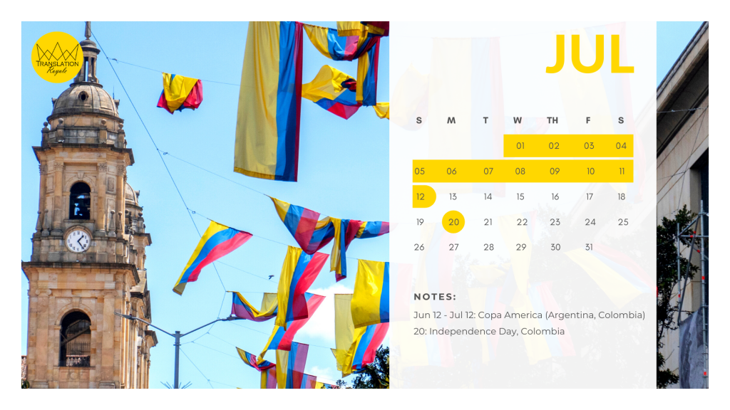July - Marketing Calendar for the Latin American iGaming Market - Translation Royale