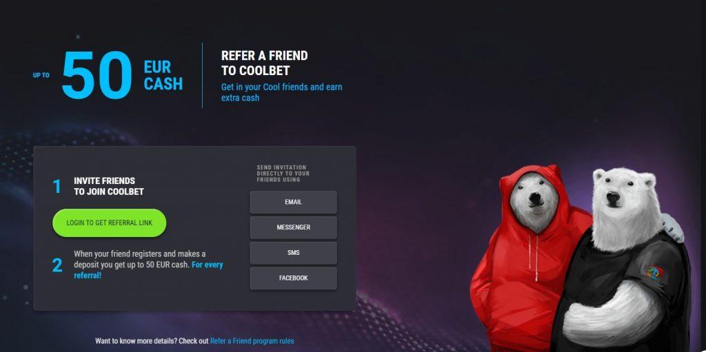 Cool Bet Referral Program - Sportsbook Marketing Campaign Ideas - Translation Royale