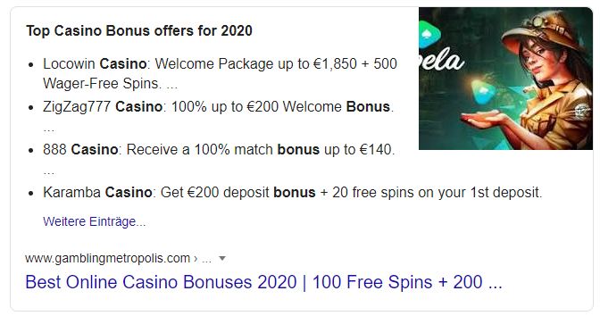 Best Casino Bonus Search Result - What iGaming companies need to know about Google's Latest Core Update - Translation Royale