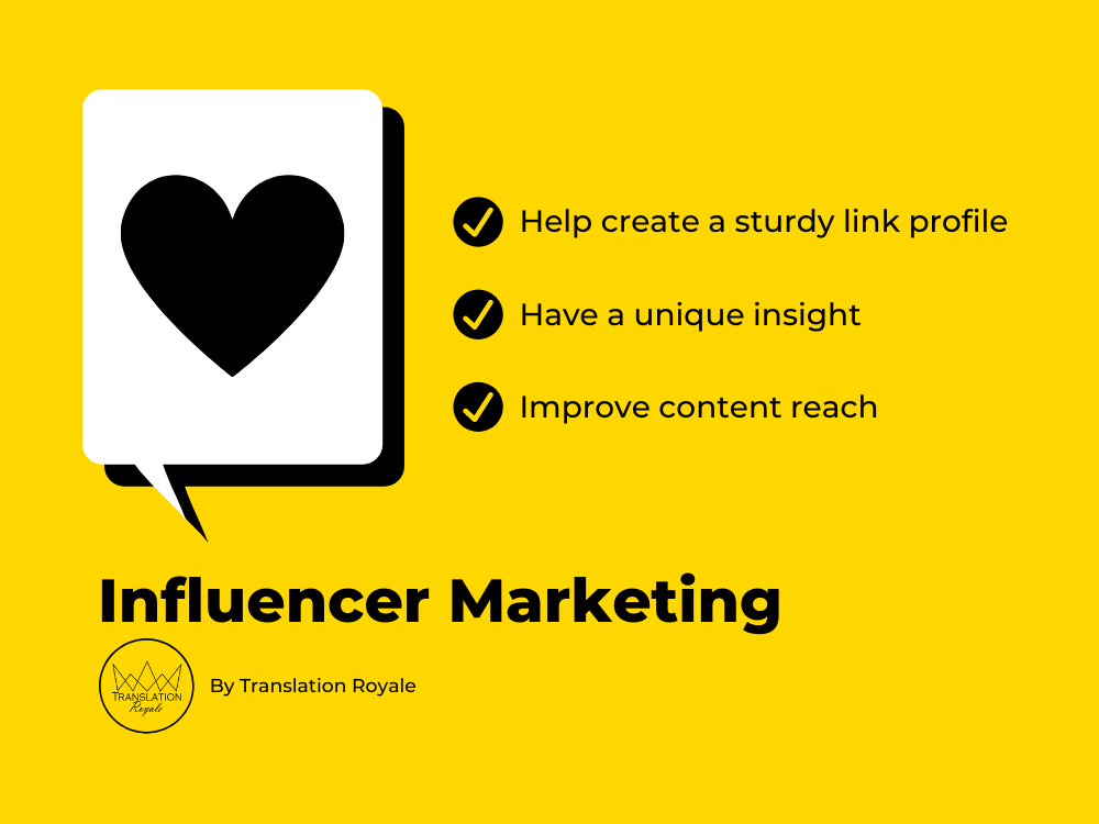Influencer Marketing Benefits - Off-Page SEO for iGaming Marketers in 2020 - Translation Royale