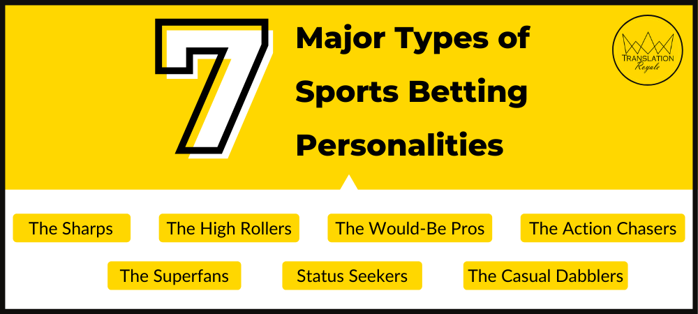 Seven Major Types of Sports Betting Personalities - Translation Royale