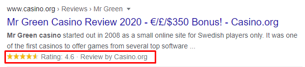 A Rich Snippet Example - Rich Snippets - Find Wealth in Your iGaming SEO Strategy - Translation Royale