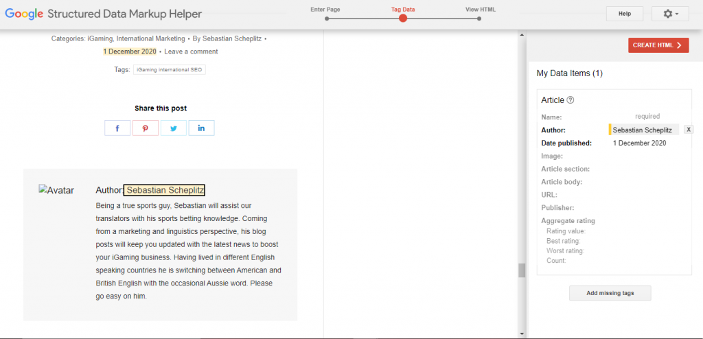 Google Structured Data Markup Helper - Rich Snippets - Find Wealth in Your iGaming SEO Strategy - Translation Royale