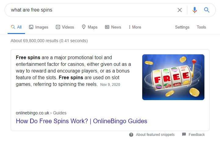 Paragraph Featured Snippet Example - Featured Snippets for iGaming - Translation Royale