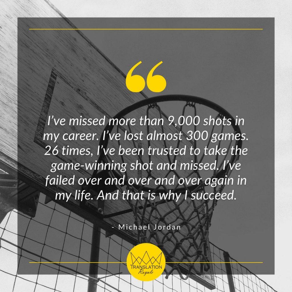Inspirational Quotes by Famous Athletes - Michael Jordan - Translation Royale