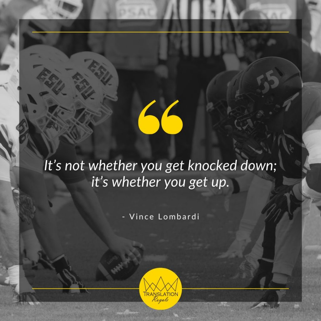 Inspirational Quotes by Famous Athletes - Vince Lombardi - Translation Royale